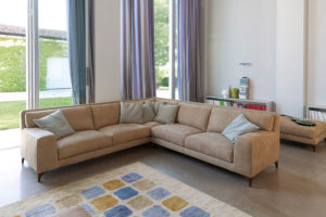 divano moderno JIm pelle