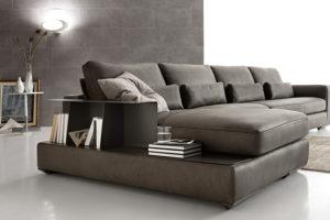 divano moderno Malone pelle
