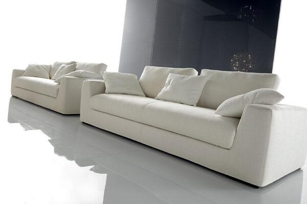 divano moderno Phil bianco