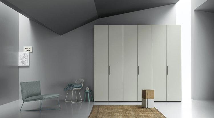 armadio design liscia battente