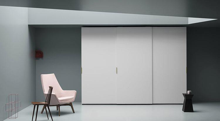 armadio design liscia scorrevole
