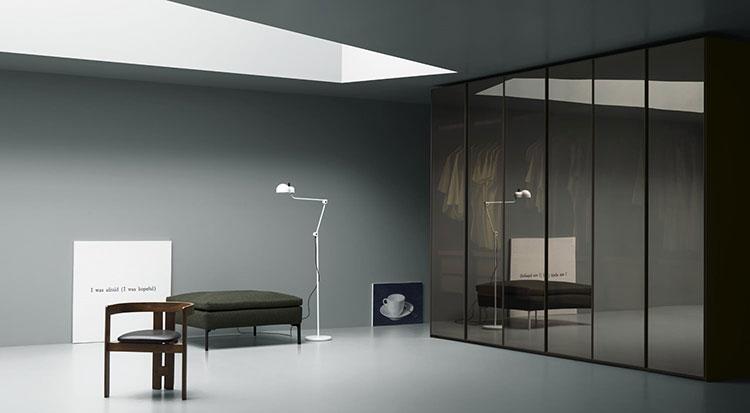 armadio design telaio vetro