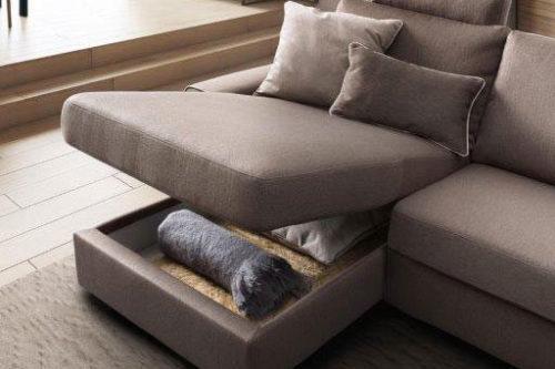 divano angolare con contenitore