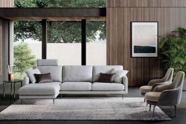 Trilli divano moderno con piedini